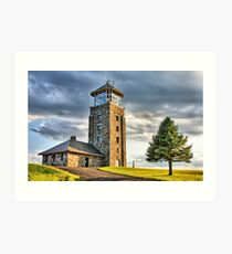 The Observation Tower at Quabbin Reservoir Art Print