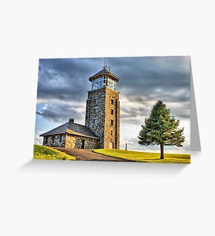 The Observation Tower at Quabbin Reservoir Grußkarte