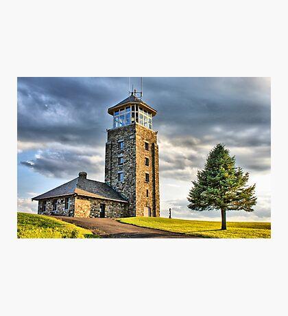 The Observation Tower at Quabbin Reservoir Fotodruck