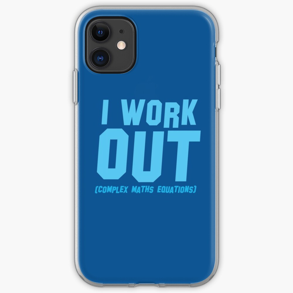I WORK OUT (complex maths equations) iPhone Case & Cover