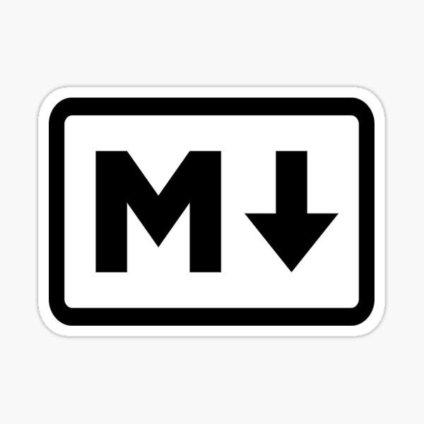 Markdown Logo Pegatina
