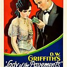 Vintage Hollywood Nostalgia Lady of the Pavements Film Movie Advertisement Poster by jnniepce