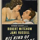Vintage Hollywood Nostalgia His Kind of Woman Robert Mitchum Film Movie Advertisement Poster by jnniepce