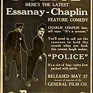 Vintage Hollywood Nostalgia Essanay Police Charlie Chaplin Film Movie Advertisement Poster by jnniepce