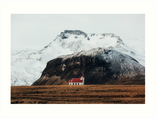 Tiny Icelandic Church by marinaweishaupt