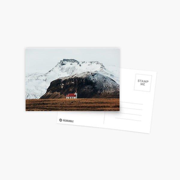 Kleine isländische Kirche Postkarte