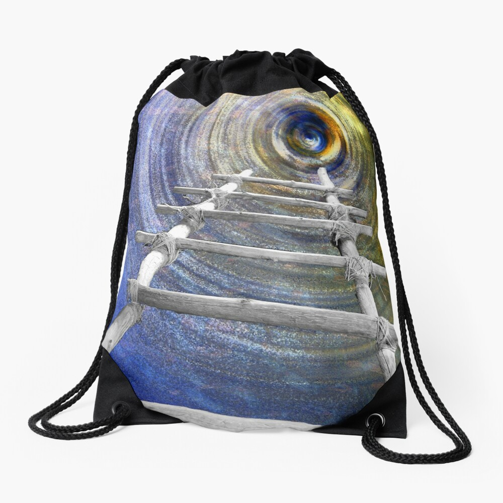 Follow in the Footsteps Drawstring Bag