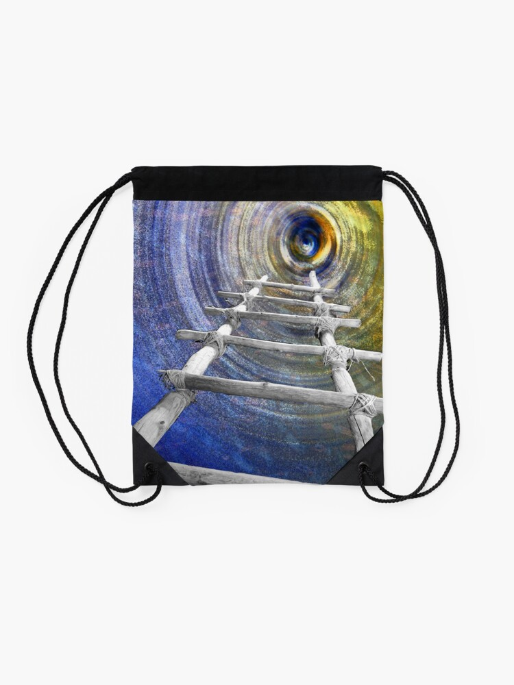 Alternate view of Follow in the Footsteps Drawstring Bag