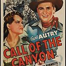 Vintage Hollywood Nostalgia Call of the Canyon Gene Autry Film Movie Advertisement Poster by jnniepce