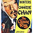 Vintage Hollywood Nostalgia The Chinese Ring Film Movie Advertisement Poster by jnniepce