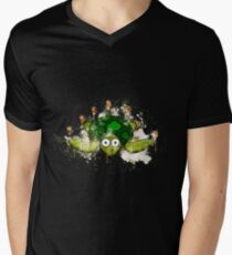 Turtle green shell watercolor painted Men's V-Neck T-Shirt