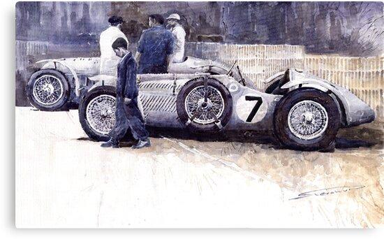 First Met Up Talbot Lago Le Mans 1950 by Yuriy Shevchuk