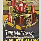 Vintage Hollywood Nostalgia The Fourth Alarm Fireman Film Movie Advertisement Poster by jnniepce