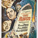 Vintage Hollywood Nostalgia The Raven Peter Lorre Boris Karloff Vincent Price Film Movie Advertisement Poster by jnniepce
