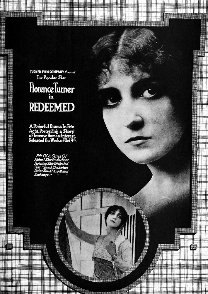 Vintage Hollywood Nostalgia Redeemed Film Movie Advertisement Poster by jnniepce