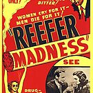 Vintage Hollywood Nostalgia Reefer Madness Marijuana Cannabis Film Movie Advertisement Poster by jnniepce