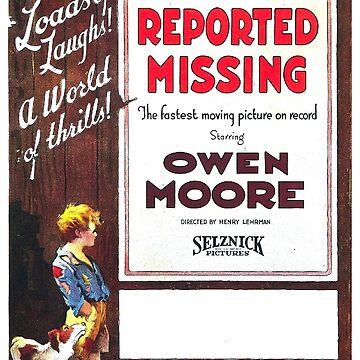Vintage Hollywood Nostalgia Reported Missing Film Movie Advertisement Poster by jnniepce
