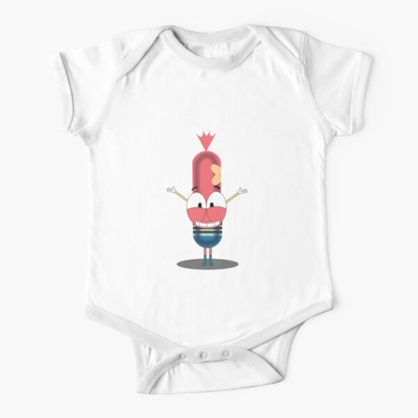 Pinky the sausage Short Sleeve Baby One-Piece
