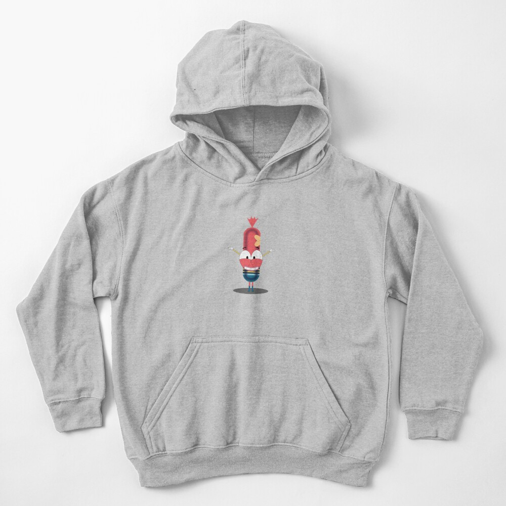 Pinky the sausage Kids Pullover Hoodie