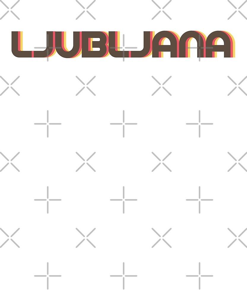 Retro Ljubljana T-Shirt by designkitsch