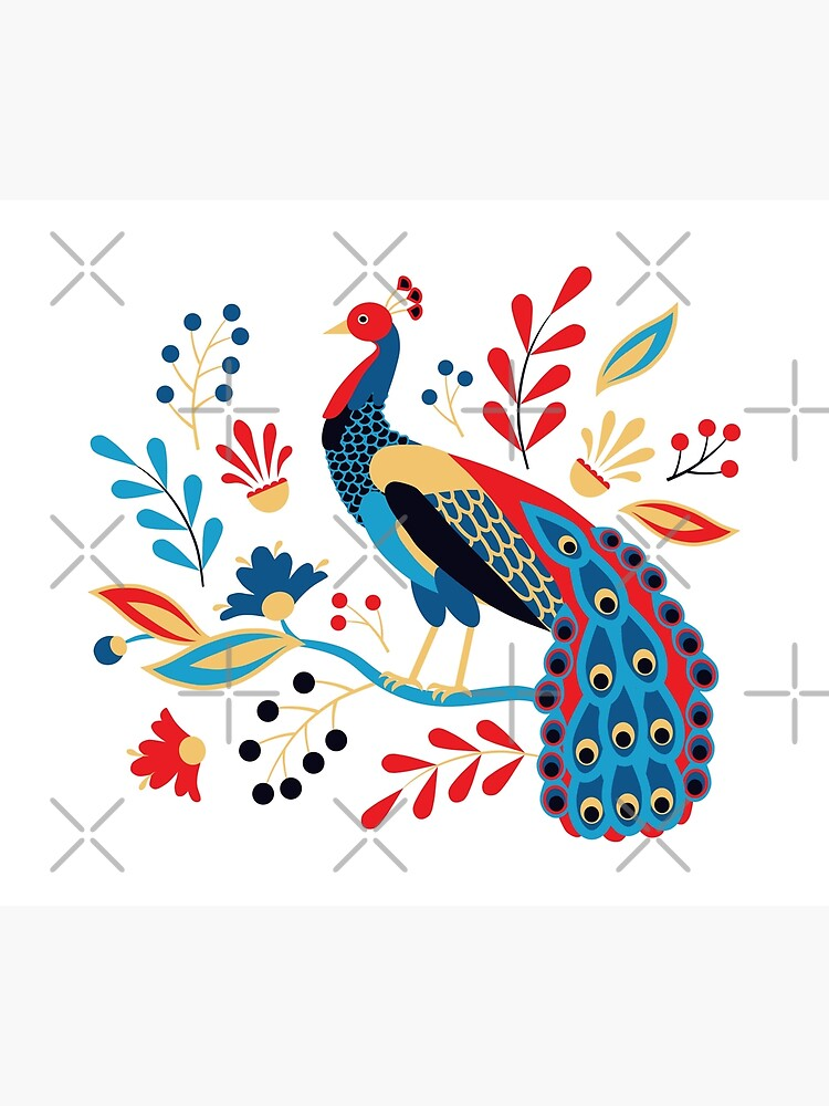Folk Peacock Bright by nadyanadya