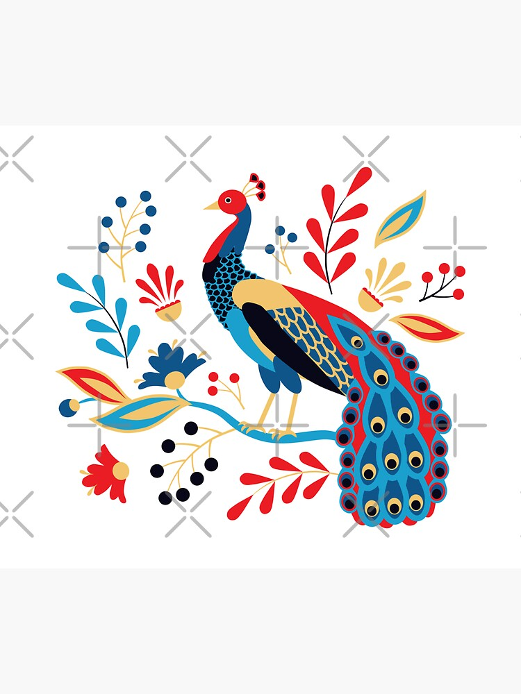 Folk Peacock Bright by nadyanadya
