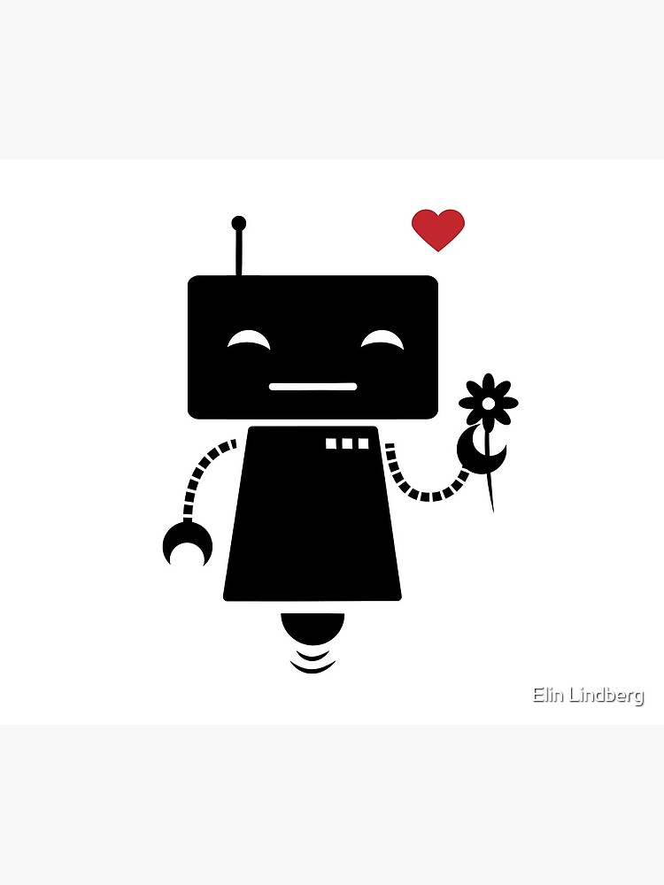 Robot With Flower by elindberg