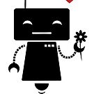 Robot With Flower by Elin Lindberg