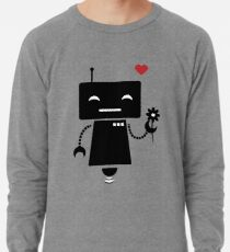 Robot With Flower Lightweight Sweatshirt