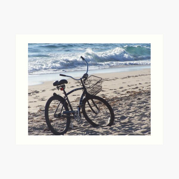 Bicycle On The Beach Art Print