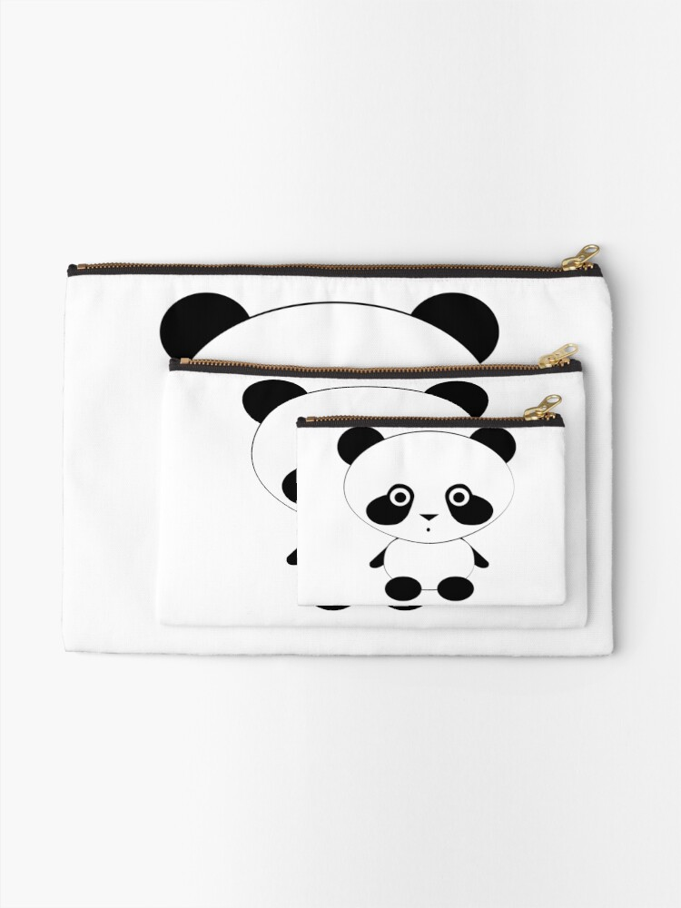 Alternate view of Cute Panda Bear Zipper Pouch