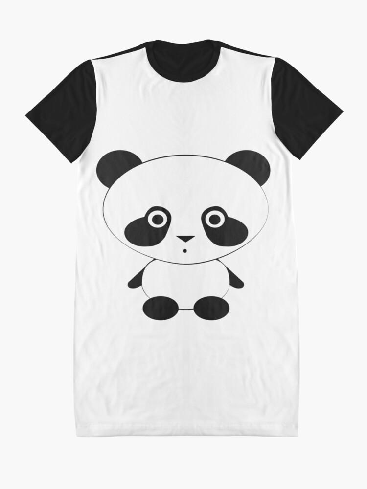 Alternate view of Cute Panda Bear Graphic T-Shirt Dress