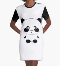 Cute Panda Bear Graphic T-Shirt Dress