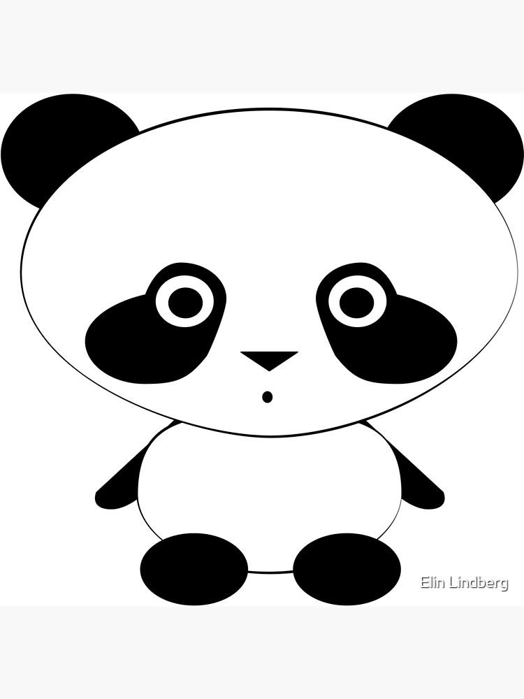 Cute Panda Bear by elindberg