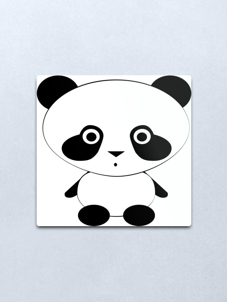 Alternate view of Cute Panda Bear Metal Print