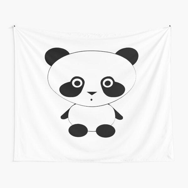 Cute Panda Bear Tapestry