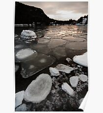 Harbour Ice Floes Poster