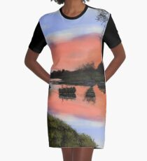 Rest Here Graphic T-Shirt Dress