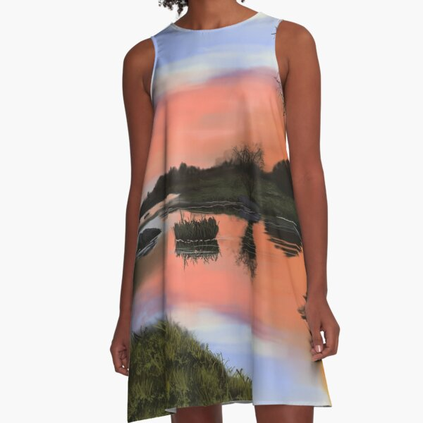 Rest Here A-Line Dress