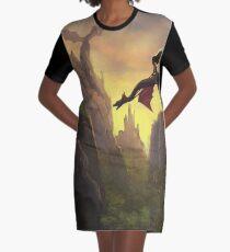Dragon Rider Graphic T-Shirt Dress