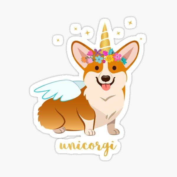 Unicorgi Funny Corgi Sticker