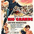 Vintage Hollywood Nostalgia Rio Grande John Wayne Film Movie Advertisement Poster by jnniepce