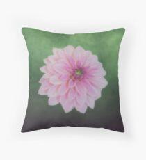 Pink Dahlia On Soft Green Floor Pillow