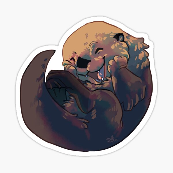 Giggling otter Sticker