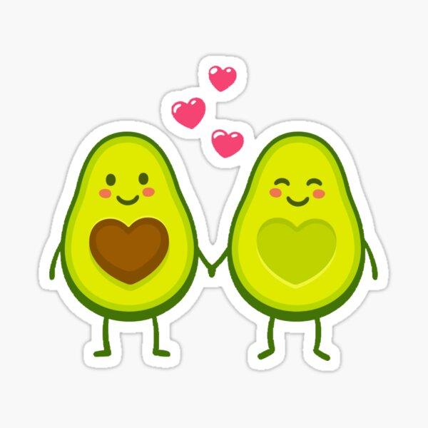 Avocado vegan love anime cartoon Sticker