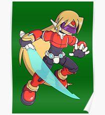 The Red Mega Man Poster