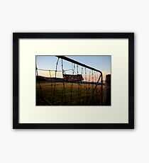 No Shooting Framed Print