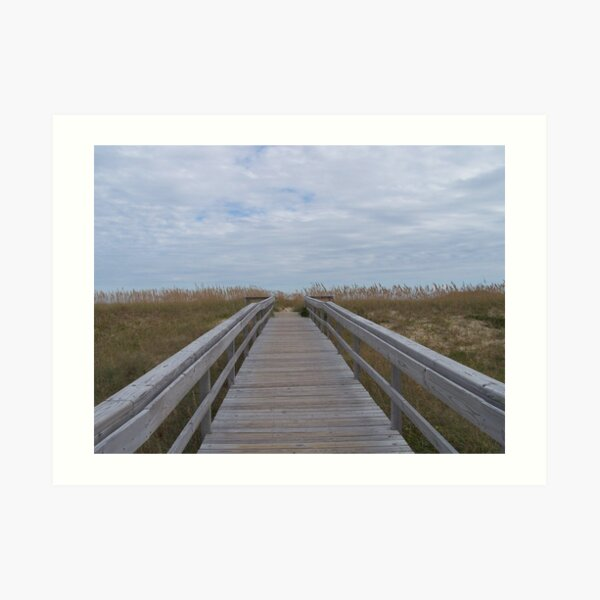 Hatteras Island Boardwalk To The Beach Art Print