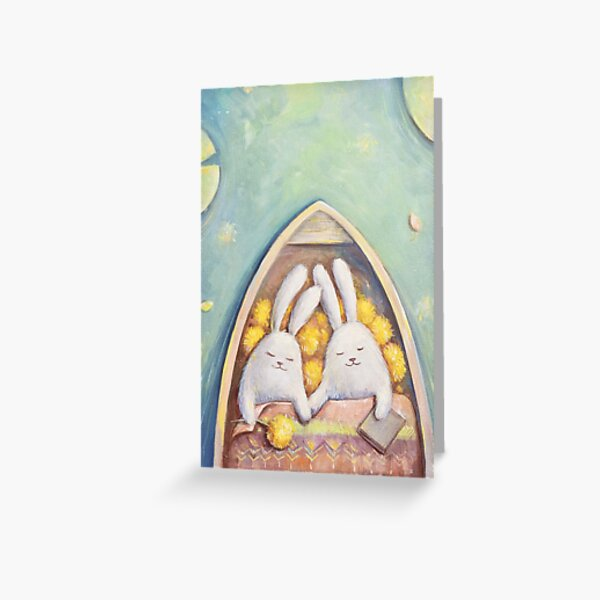 Something about Love and Bunnies Greeting Card