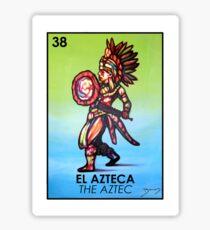 Pegatina El Azteca - Los aztecas - Loteria